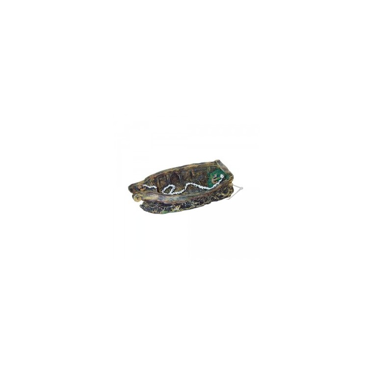 Décor aquarium petite barque 18 cm 805494