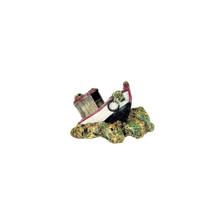 Décor aquarium chalutier 19 cm 835875
