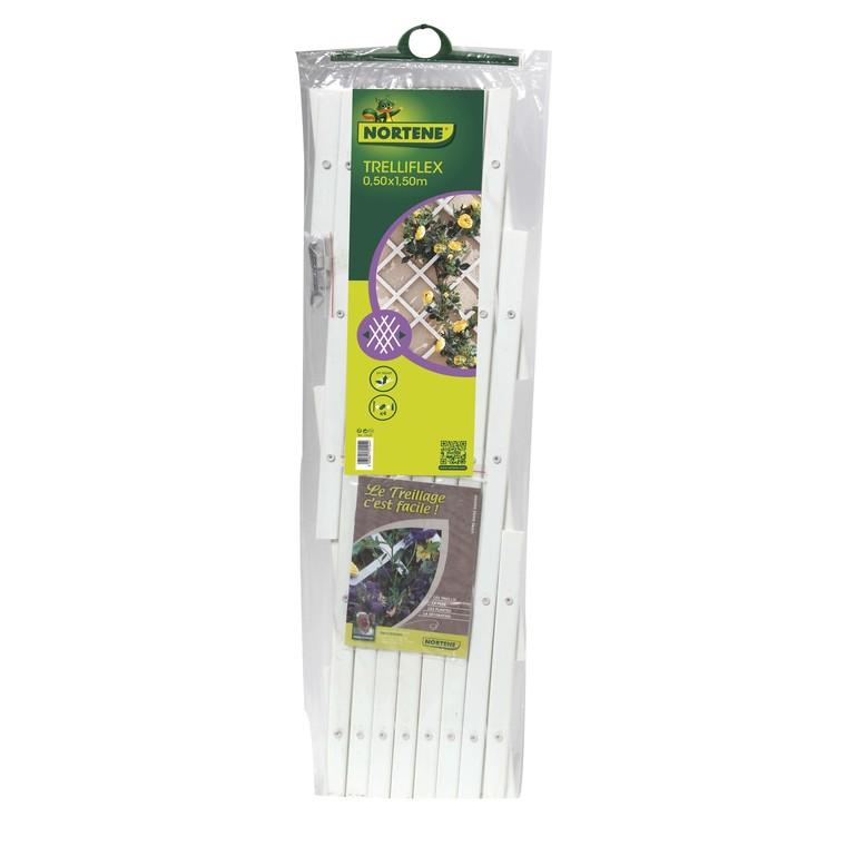 Treillis extérieur Treilliflex en PVC, coloris blanc, 50 x 150 cm
