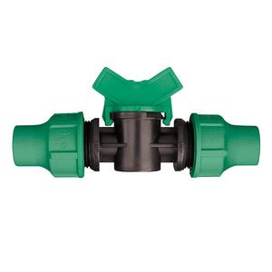 Vanne d'arrêt d'eau avec bague de serrage D 16 mm