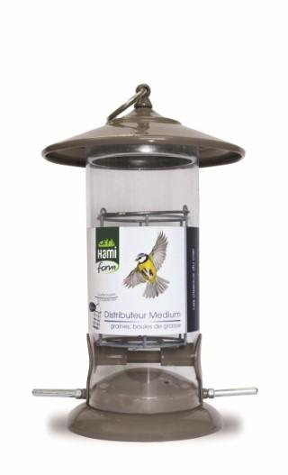 distributeur graines et boules de graisse pour oiseaux medium oiseaux des jardins hamiform. Black Bedroom Furniture Sets. Home Design Ideas