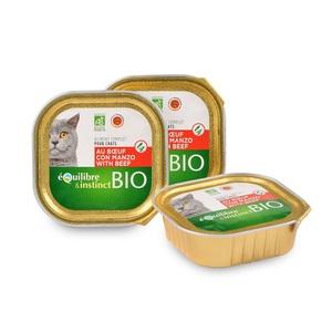 Boite pour chat bio au bœuf 100 g 976635