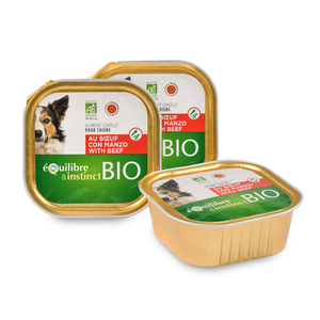 Boite pour chien bio au bœuf 300 g 976662