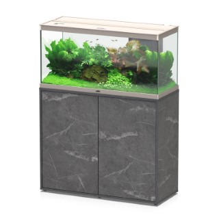 Lot Aquarium Style 100 led plus + meuble effet marbre 160L L000166