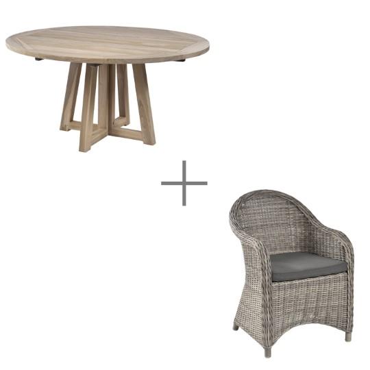 Ensemble repas Altéa : 1 table et 4 fauteuils
