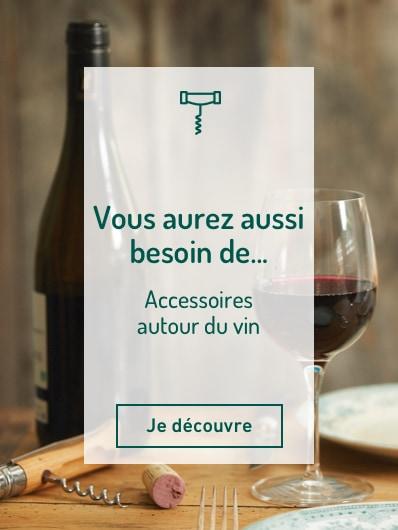 Vous aurez aussi besoin d'accessoires autour du vin : tire bouchon, verres à pied...etc. Je découvre !