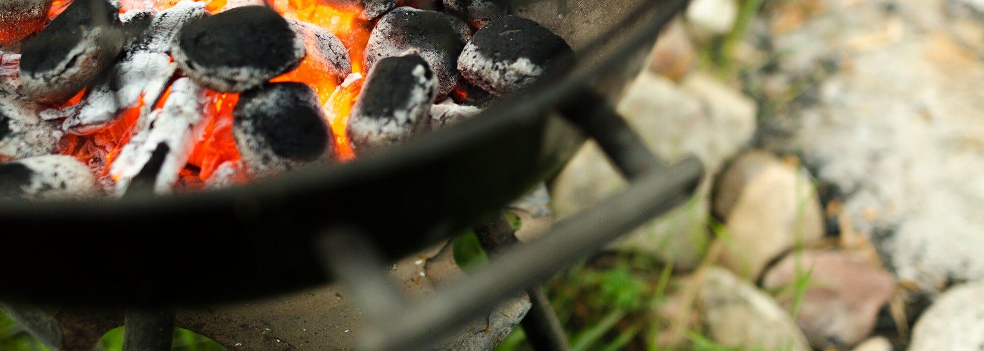 Charbon de bois et allume-feux pour barbecues