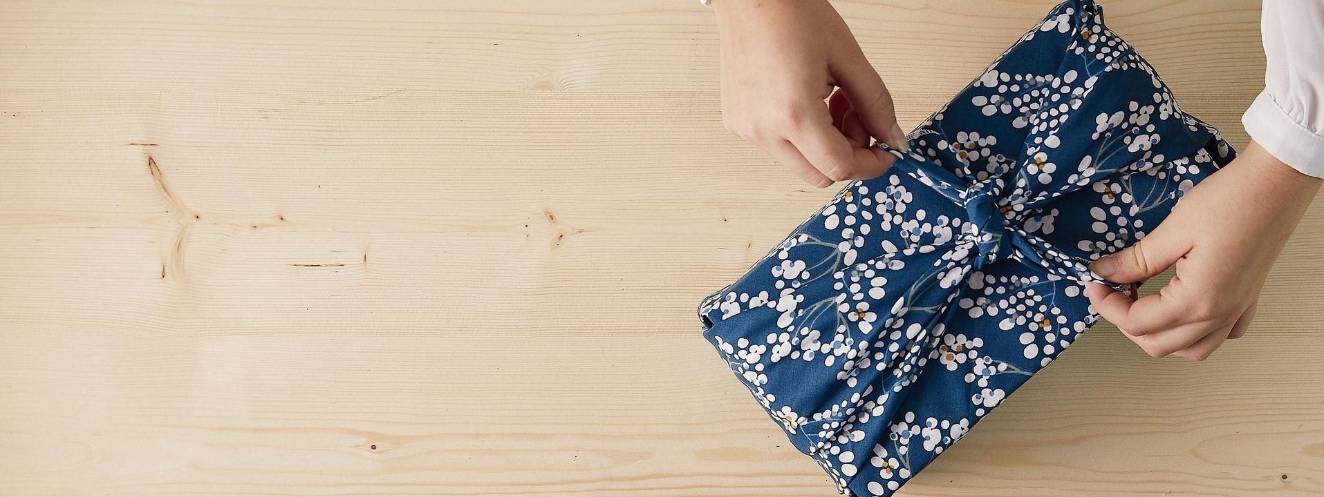 Nos emballages cadeaux réutilisables Furoshiki