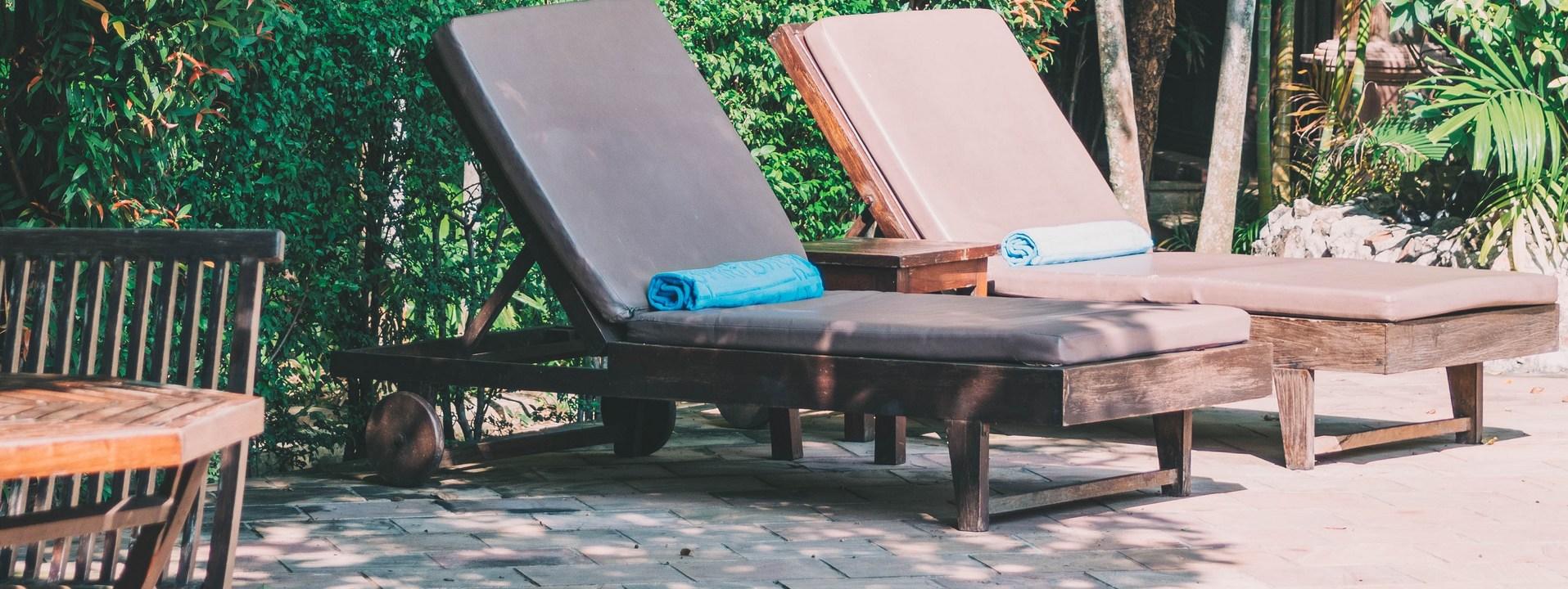 Matelas et coussins pour bains de soleil