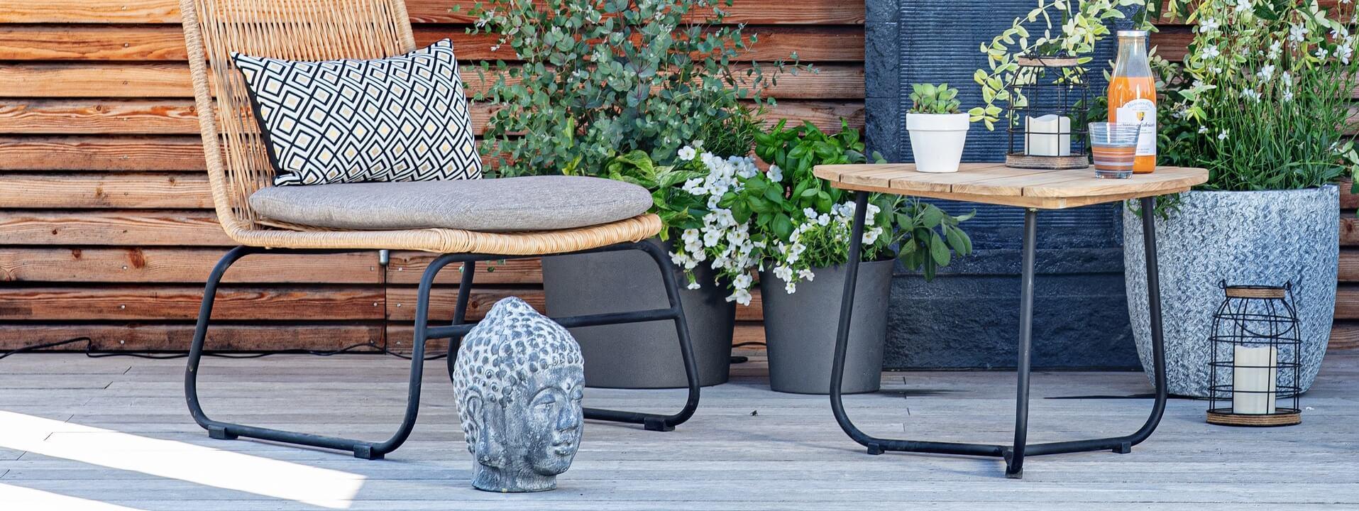 Tables basses de jardin