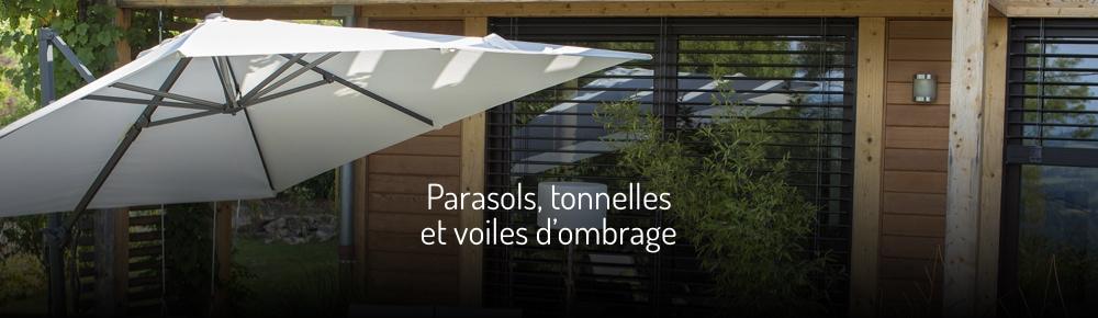 Parasols, tonnelles et voiles d'ombrage