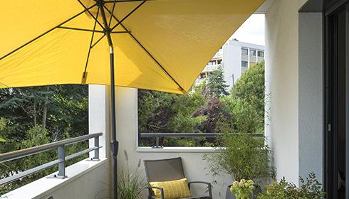 Les parasols droits