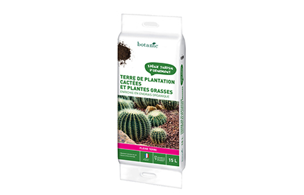 Terre de plantation cactées et plantes grasses 15L