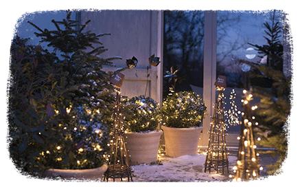 Ambiance de Noël : Extérieur