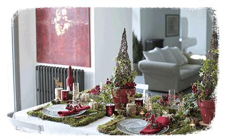 Ambiance de Noël : nature rouge