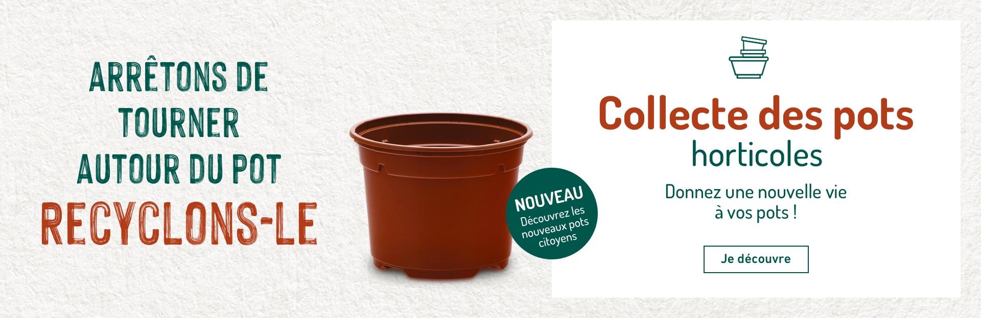 Collecte et recyclage des pots horticoles