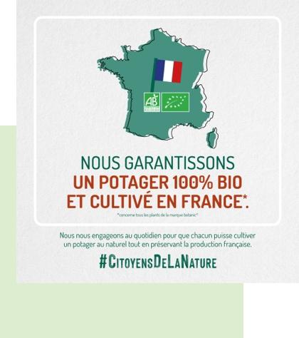 engagement potager bio et cultivé en France