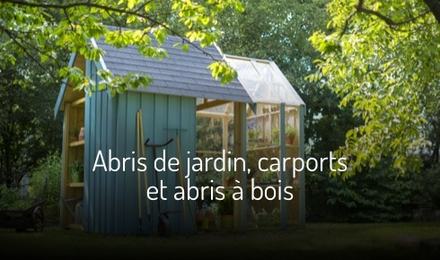 Abris de jardin, carports et abris à bois