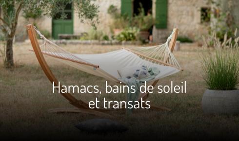 Hamacs, bain de soleil et transats